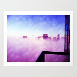 Head in the Clouds, Downtown, SD Art Print