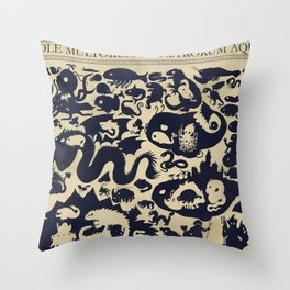 Size Chart of Sea Monsters Throw Pillow