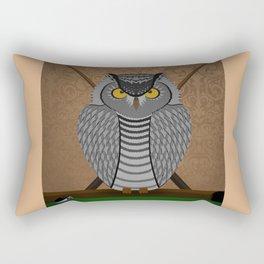 owl playing billiards Rectangular Pillow