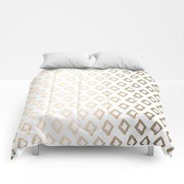 Gold Diamond Design II Comforters