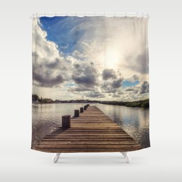 Into the Sun Shower Curtain