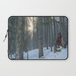 Woods on a Winter's Day Laptop Sleeve
