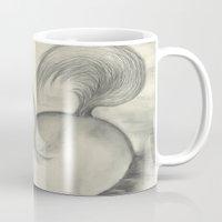 sea horse Mugs featuring Sea Horse by Alexandra Sutherland