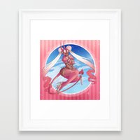 magical girl Framed Art Prints featuring Magical Girl by Rebeccacablah