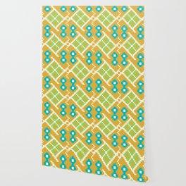 Colorful Spots Native Aztec Pattern Wallpaper