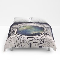 Comforters featuring Dreaming Of Space by Tracie Andrews