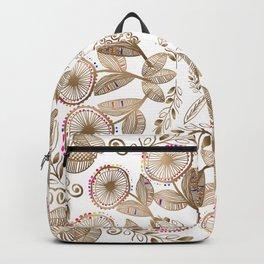 Gold Dandelion Mandala Backpack