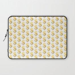 Gold Money - modern sparkle gold foil trendy hipster urban beach summer fresh pattern money sign  Laptop Sleeve