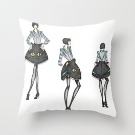Whimsical Alice Throw Pillow