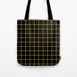 Grid Pattern - yellow and black - more colors Tote Bag