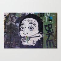 salvador dali Canvas Prints featuring Salvador Dali by Victoria Herrera