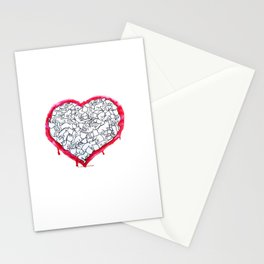 Cats Heart Stationery Cards
