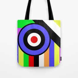 Bold Geometry - Abstract, Geometric, Retro Art Tote Bag