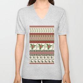 Mistletoe Ugly Sweater Unisex V-Neck