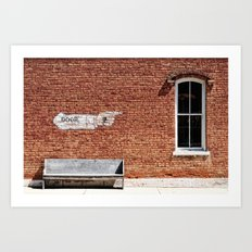 NO.... Window! Art Print