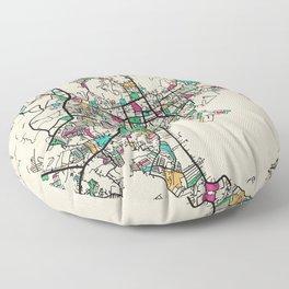 Colorful City Maps: Phuket, Thailand Floor Pillow