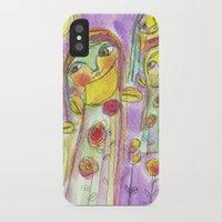 fairies iPhone & iPod Cases featuring Flower fairies by Dulcamara