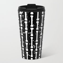 Bone stripes (black) Travel Mug