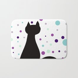 Black Cat Party! Bath Mat