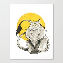 The Alien Cat Canvas Print