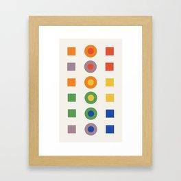 Chevreul Laws of Contrast of Colour, Plate VI, 1860, Remake Framed Art Print