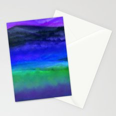 Bright Midnight Landscape Stationery Cards