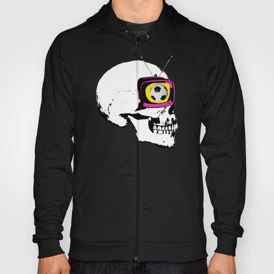 Football Mind - a round thing in the TV eye v1 Hoody