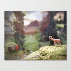 Temporary Happiness part 1 deer Canvas Print