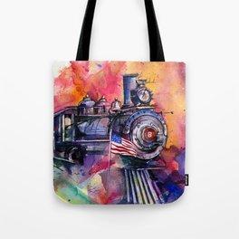 American Train by Kathy Morton Stanion Tote Bag