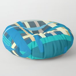 Playful Plaid and Polka Dots Floor Pillow