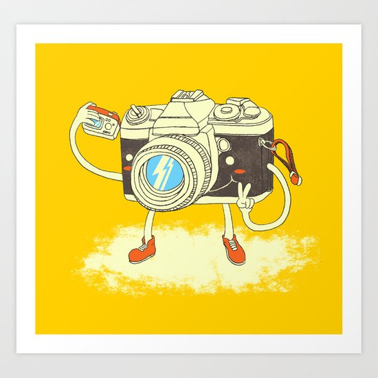 Self capture Art Print