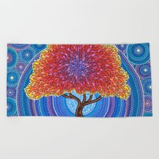Autumn Blossoms Beach Towel