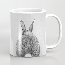 Rabbit Tail - Black & White Coffee Mug