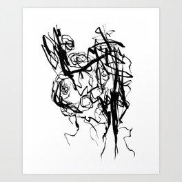 Heart | Black and White Abstract Art | Black and White Art Prints Art Print