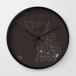 Michigan Highways Wall Clock