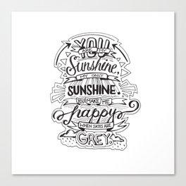 My Only Sunshine Canvas Print