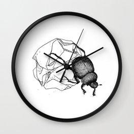 Dung beetle Wall Clock