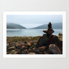Acadia Cairn Art Print