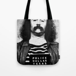 David Crosby Mug Shot Vertical Painting Black And White Tote Bag