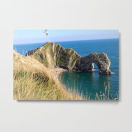 Beach Day at the Jurassic Coast, England Metal Print