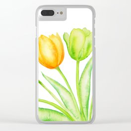 Rainbow Tulips, Spring Flowers Clear iPhone Case