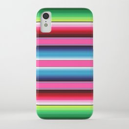 Pink Mexican Serape Blanket Stripes iPhone Case