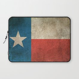 Old and Worn Distressed Vintage Flag of Texas Laptop Sleeve