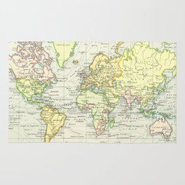 Vintage World Map (1899) Rug