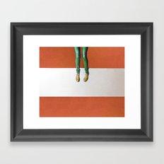 My brain is hanging upside down Framed Art Print
