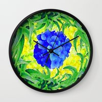 brasil Wall Clocks featuring Brasil Flag by Jess Batista