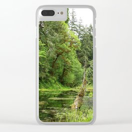 Hoh Rainforest Scene Clear iPhone Case