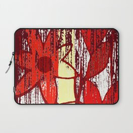 Red Floral Decay Laptop Sleeve