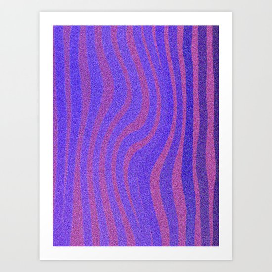 Purple Wave Art Print