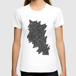 Black and White Stripes and Lines T-shirt